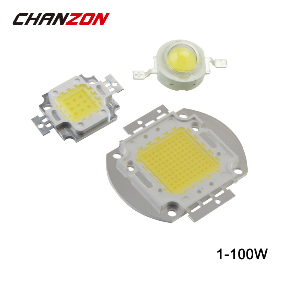 High Power LED Chip SMD 1W 3W 5W 10W 20W 30W 50W 100W White Red Green Blue Yellow RGB 3000K 4000K 6000K Lamp Light Beads Diode high power 100w 9000lm led chip led bulb ic smd lamp light blue green white yellow warm white one power supply driver