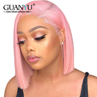 Guanyuhair Bob Lace Front Wigs Human Hair Pre Plucked 613 Blonde Pink Blue Grey Green Ombre Short Bob Wigs For Black Women