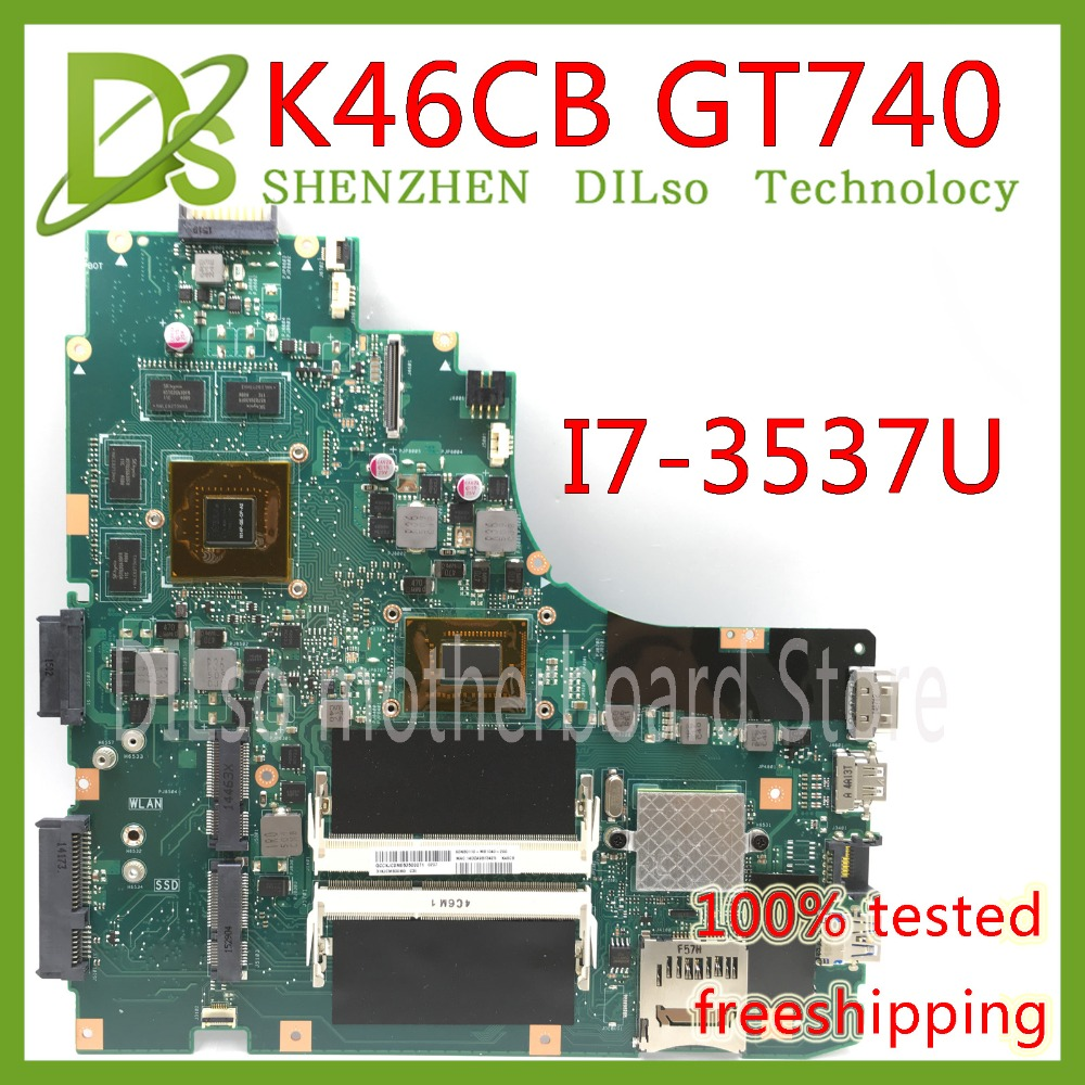 KEFU K46CB GT740M For ASUS K46CM K46CA K46C S46CB Laptop Motherboard Integrated GT740M With I7-3537U CPU On Board FREESHIPPING
