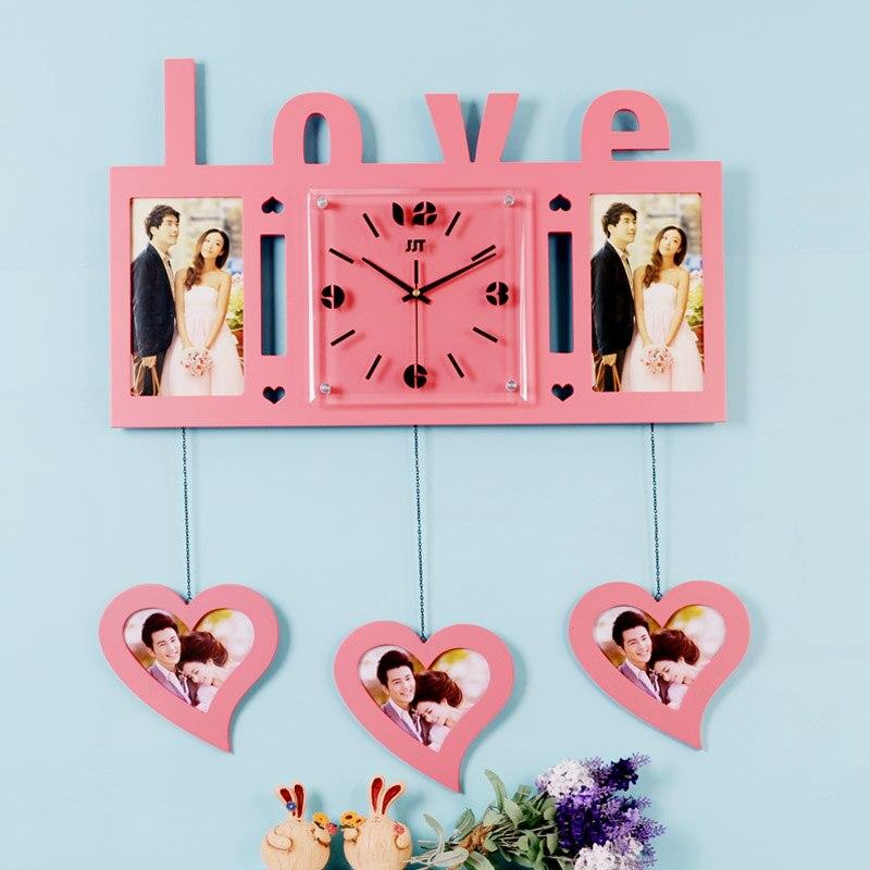 Aliexpresscom Buy Luminousness Large Love Wooden Photo Frame Wall