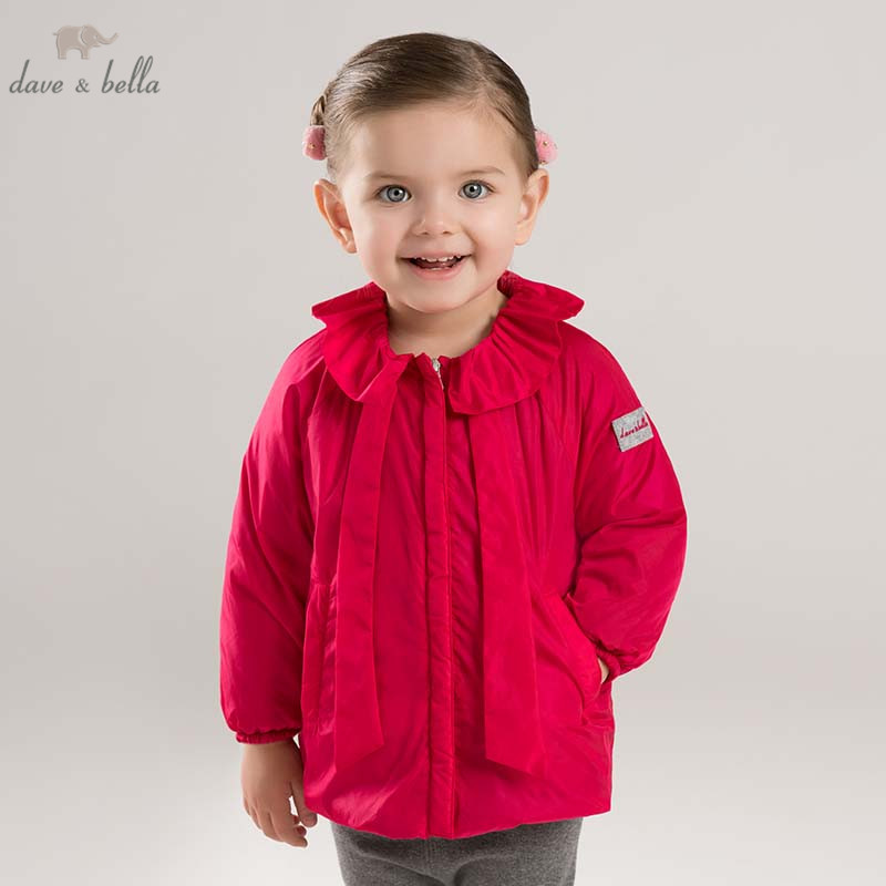 DB8521 dave bella autumn infant baby girls fashion coat kids outerwear toddler children high quality lovely