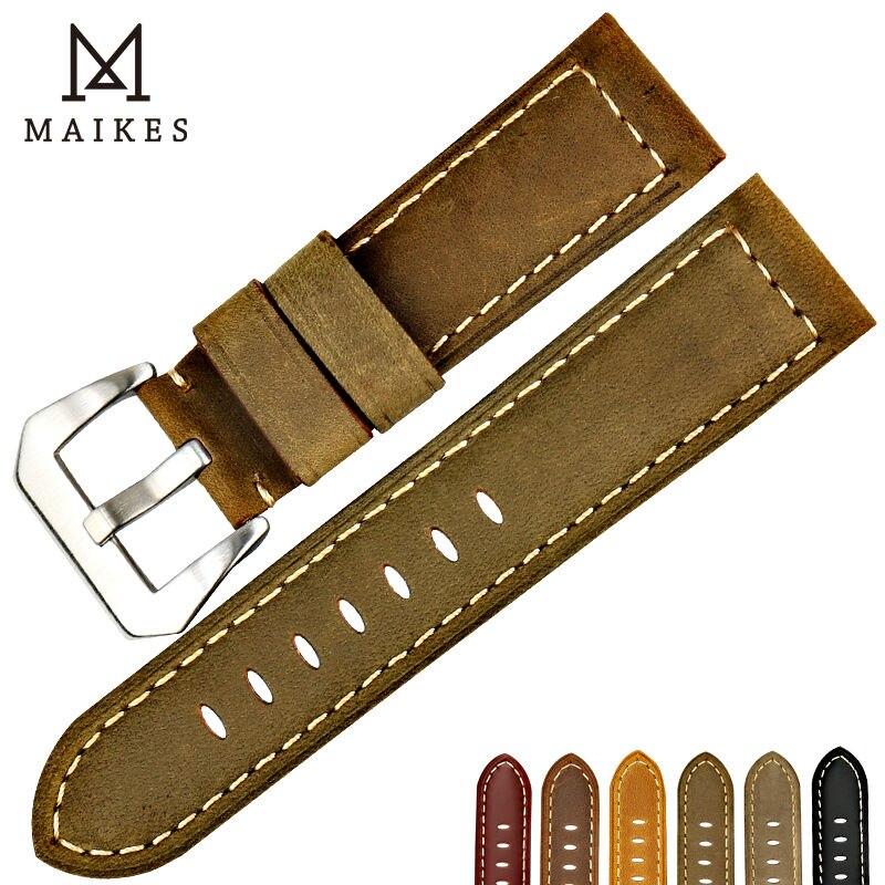 MAIKES Gute Qualität 22mm 24mm 26mm Uhrenarmband aus echtem Leder - Uhrenzubehör - Foto 1