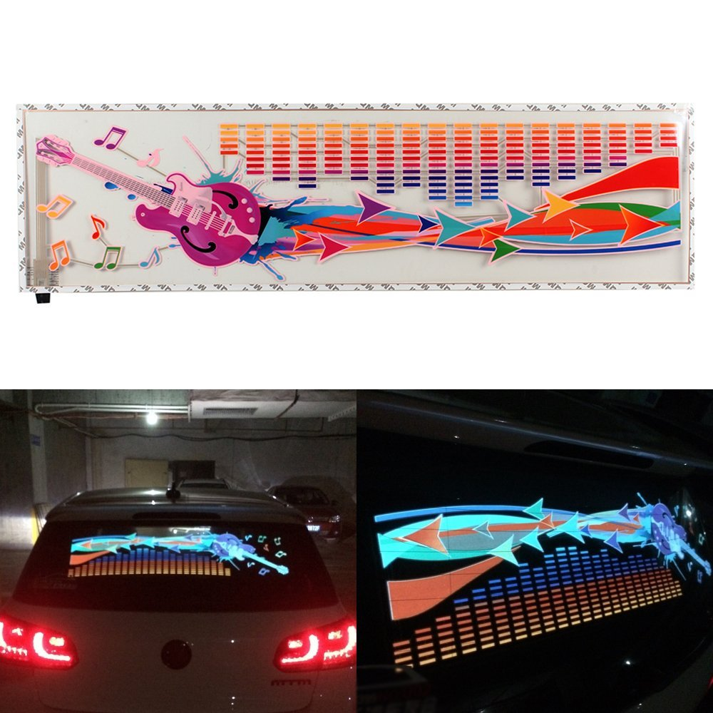 90*25cm LED Music Car Sticker Music Equalizer Neon Light Car Music Rhythm LED Flash Light Led car Decoration Lamps Car styling