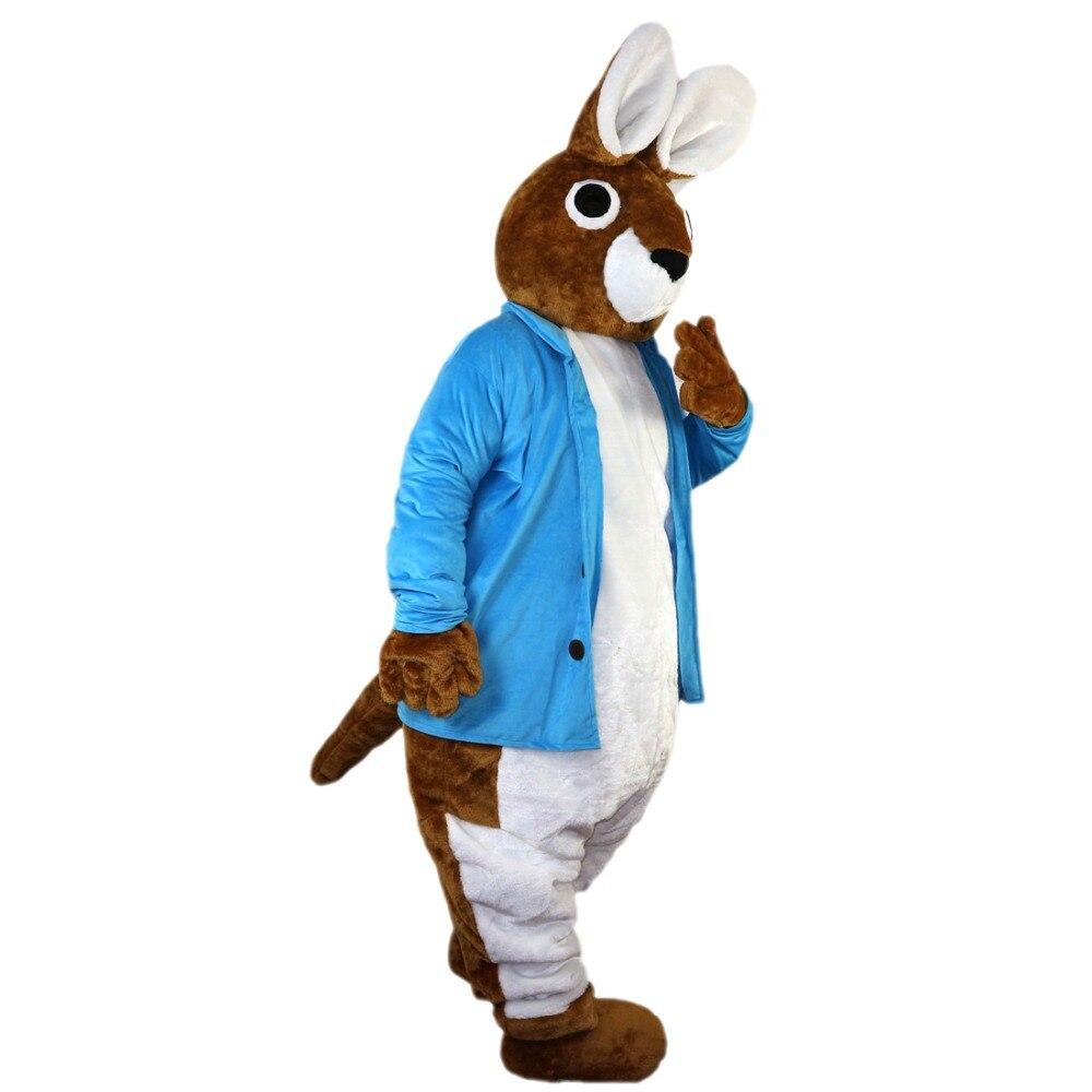 2018 nouvelle offre spéciale Costume de mascotte de lapin Peter taille adulte tenue d'halloween Costume de déguisement livraison gratuite