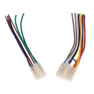 """Image 2 - 1 סט 10 פין + 6 פין רכב סטריאו רדיו/CD/DVD נגן ISO חיווט לרתום מחבר עבור טויוטה רכב סטריאו 6.3 """"אביזרי רכב"""