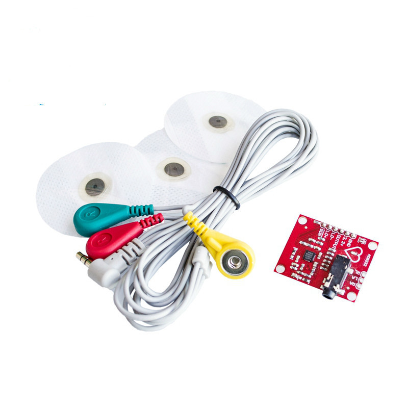 1set <font><b>Ecg</b></font> module AD8232 <font><b>ecg</b></font> measurement pulse heart <font><b>ecg</b></font> monitoring <font><b>sensor</b></font> module kit for Arduino #Hbm0185 image