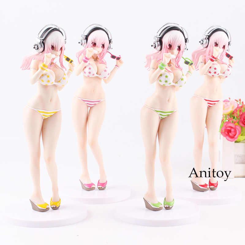 Супер сонико ---- Фигурка Девушки Лето Пляж Фигура красочные Макарон купальник Ver. ПВХ Коллекционная модель игрушки 4 цвета