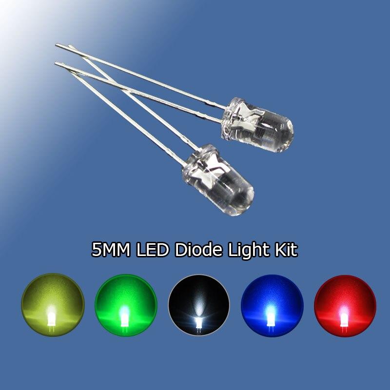 5mm LED RED 55cm Pre-Wired Round Clear Light Emitting Diode 9V-12V 20 Pack