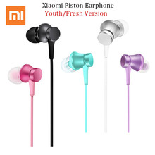 Original Mi Xiaomi Piston 3 Fresh Youth Version Earphone In-Ear 3.5mm Wire Control Colorful Earphone With Mic Earphone(China)