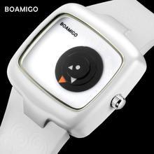 Модные женские часы boamigo фирменные креативные Дамские Кварцевые