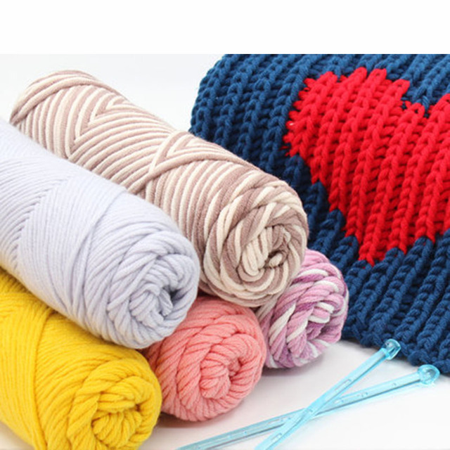 3 Pcs Alpaca Wool Yarn Knitting Chunky Wool Felting Baby Silk Thick