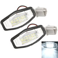 replacement car 2pcs 18LED Super Bright License Plate Light Dedicated Replacement Car Signal Lamp For Honda Civic Accord for Acura TL TSX MDX (3)