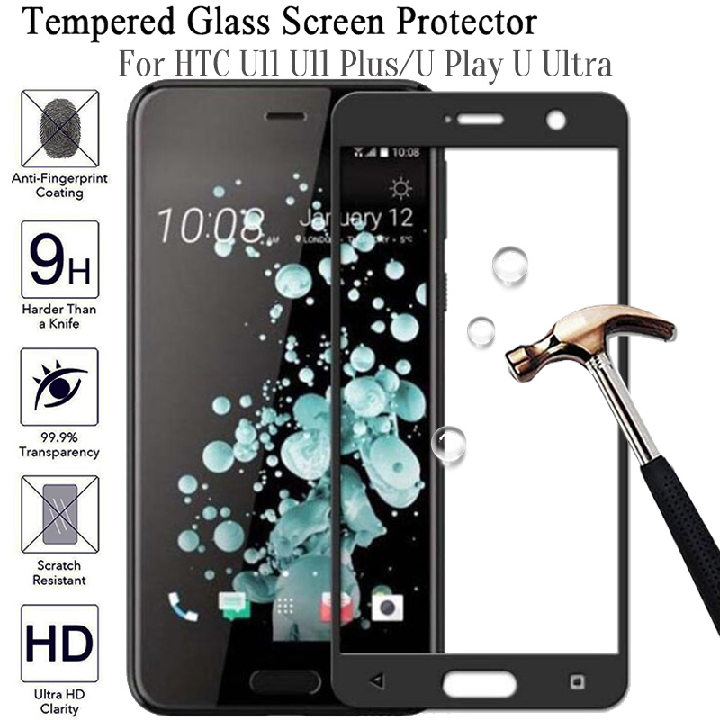 Full Cover Tempered Glass For HTC U11 U Ultra Play Plus Protective Film Screen Protector For HTC Uplay U11 U11plus Anti Scratch