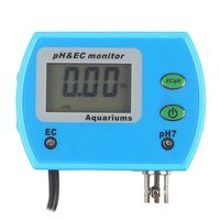 2 in 1 Water Quality Tester LCD Monitor Online pH / EC Meter Acidometer US