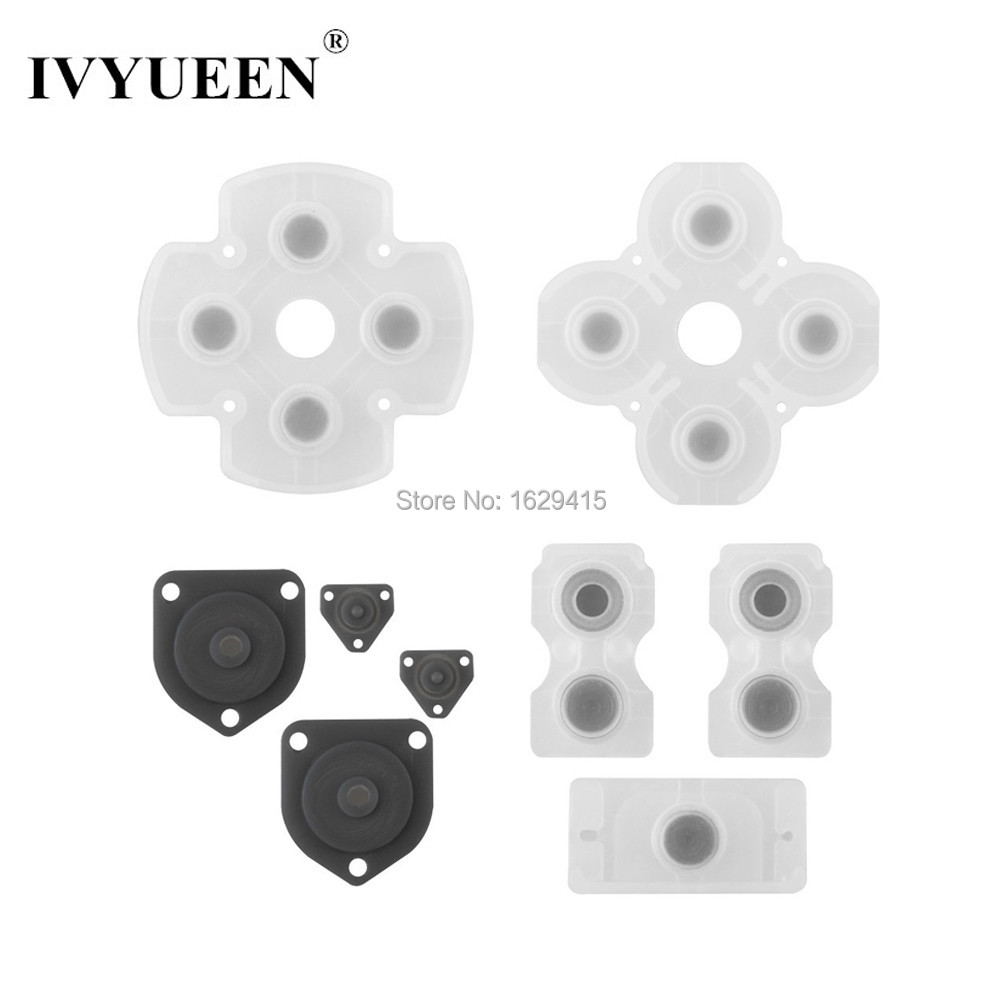 IVYUEEN Silicone Conductive Rubber Adhesive Button Pad Keypads for Sony PS4 PlayStation DualShock 4 Pro Slim ControllerIVYUEEN Silicone Conductive Rubber Adhesive Button Pad Keypads for Sony PS4 PlayStation DualShock 4 Pro Slim Controller