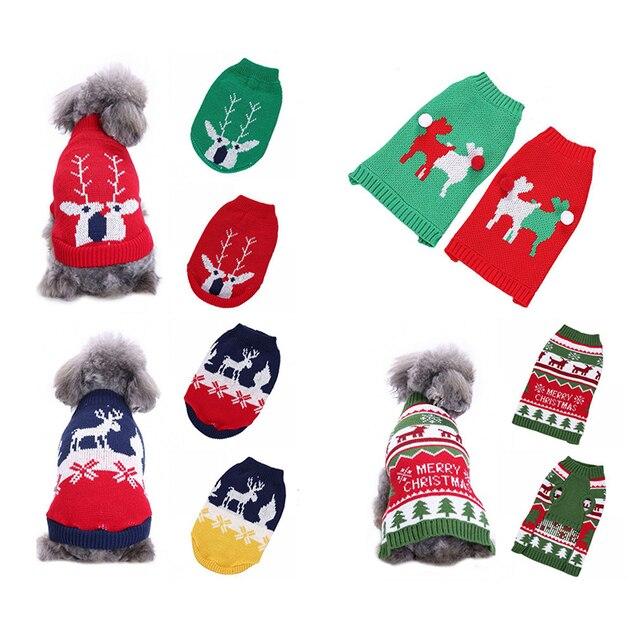 Navidad Reno diseño cachorro precioso Pet Cat Dog Sweater de punto ...