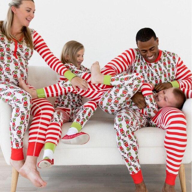 dd1082093c Matching Christmas Pajamas Father Mother Son Outfits Christmas Family  Pajamas Mum And Daughter Clothes pijama navidad familia