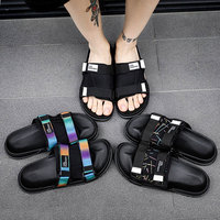 Men's Slides Soft Light Men Slippers Home Outdoor Beach Summer EVA Rubble Slide Slipper 2019 Fashion Indoor Shoes Big Size 47 48