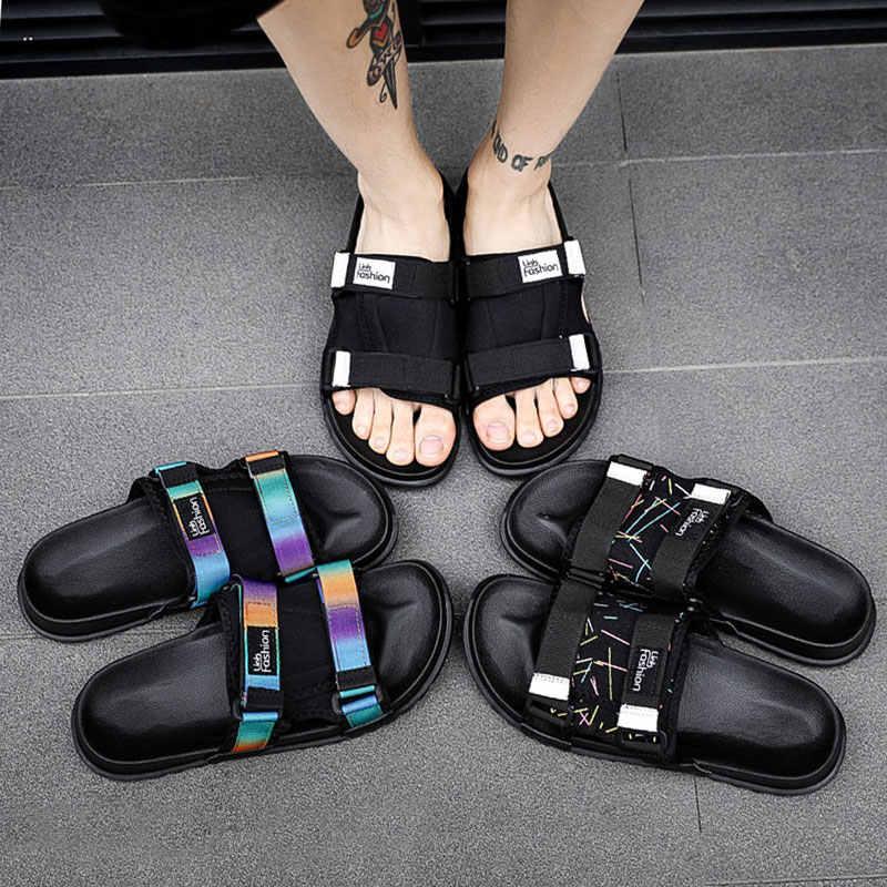 eef3d8129c27 2019 Summer Mens Slides Fashion Beach Slippers Men Lightweight Flip Flops  Men Outdoor Anti-Slip