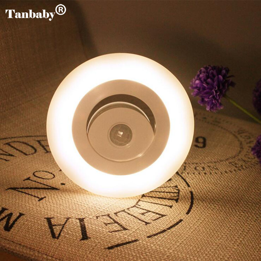 Tanbaby Motion Sensor Night Light 360 Degree Wireless Wall Lamp Battery Operated with magnet for cabinet Kitchen bedroom