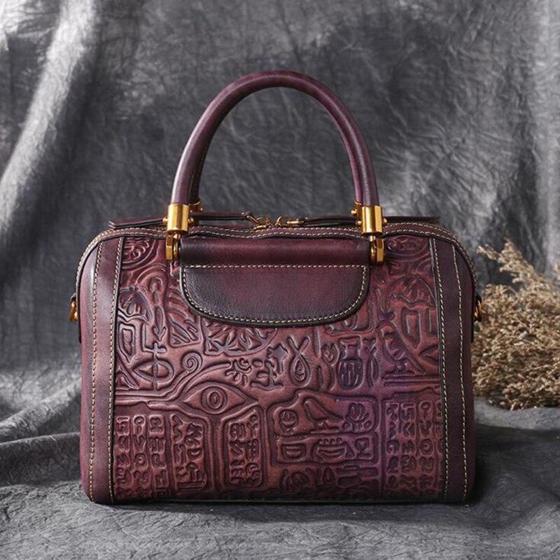 ผู้หญิงที่มีชื่อเสียงแบรนด์ผู้หญิงกระเป๋าถือ Cowhide กระเป๋า Sac Luxury Embossed Messenger กระเป๋ากระเป๋าถือกระเป๋าหนังแท้-ใน กระเป๋าหูหิ้วด้านบน จาก สัมภาระและกระเป๋า บน   2