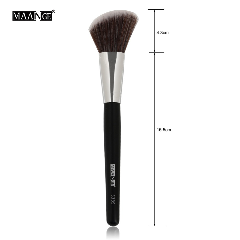 Image 5 - MAANGE 1Pc Angled Round Blush Makeup Brush Face Cheek Contour Blusher Nose Foundation Loose Power Cosmetic Make Up Brushes Tool-in Eye Shadow Applicator from Beauty & Health
