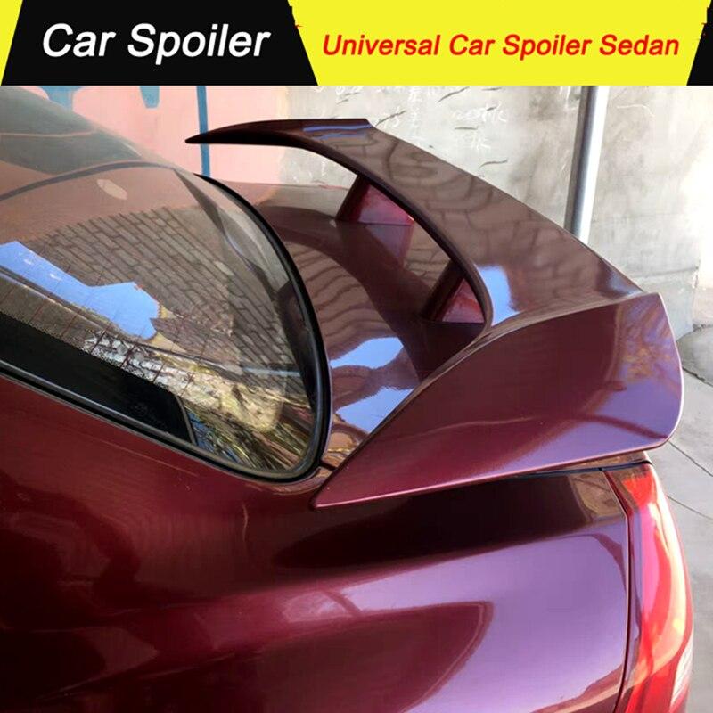 Fit For All Car Model Sedan Universial Spoiler ABS Material Primer Color Tail Wing Decoration Rear Trunk Spoiler For Mazda 3