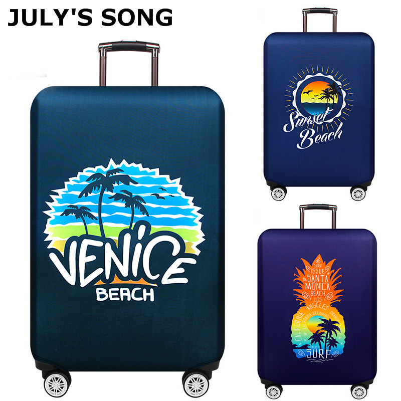 JULY'S SONG Luggage Cover 18-32'' Suitcase Elastic Protection Case Covers Trolley Thicken Dust Suitcase Case Travel Accessories