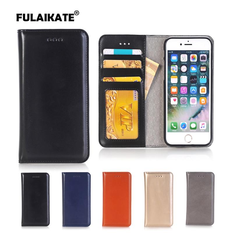 FULAIKATE 2 in 1 Plånbok Holster Flip Case för iPhone 7 Mjukt - Reservdelar och tillbehör för mobiltelefoner