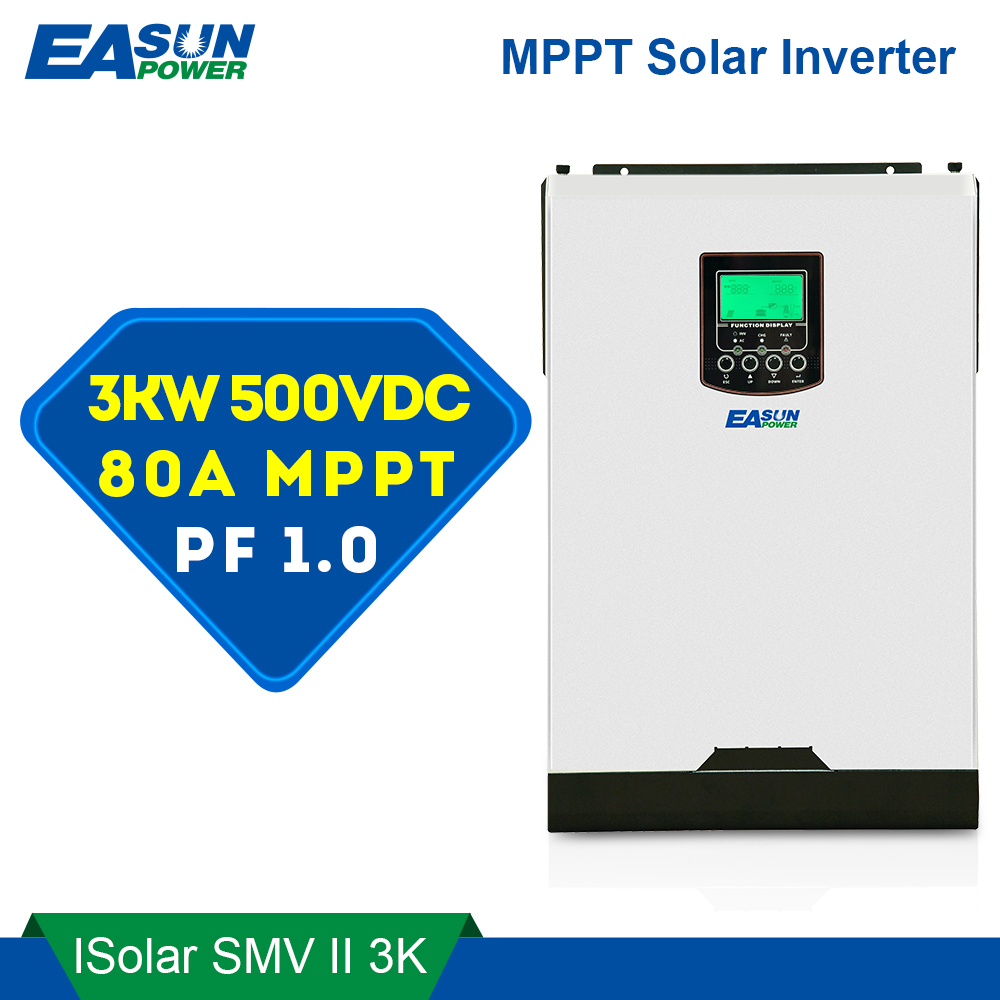 Easun Power Pwm Solar Inverter 3000w 24v 220v 50a Pure Sine Wave Diagram Of The Puresinewave Within An Pv Offgrid System 500vdc 80a Mppt 4000w