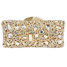 Goldene Grau Diamant Handtasche Luxus Kristall Abend Kupplungen Tasche mit Kette bankett tasche Urlaub Cocktail abendessenbeutel SC039
