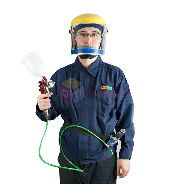 New Air Fed Visor Breathing Air Supply Protect Pro Mask Kit For Paint Spray Respirator Protection-in Tool Parts from Tools    2