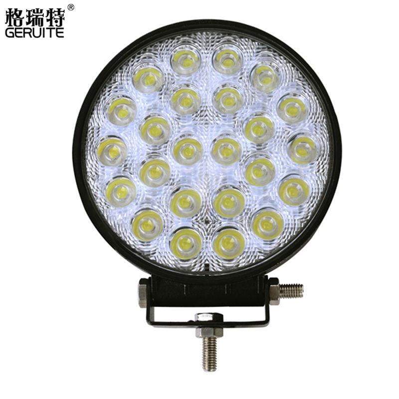 Prix pour 2017 72 W LED Feux De Voiture Forme Ronde Blanc Froid LED Lampes de Travail 12-24 V Étanche 24 LED Offboard Bateau De Voiture Lumières