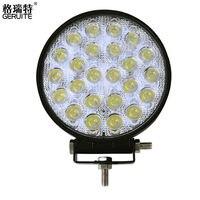 2016 72W LED Car Lights Square Shape Cool White LED Work Lights 12 24V Waterproof 24