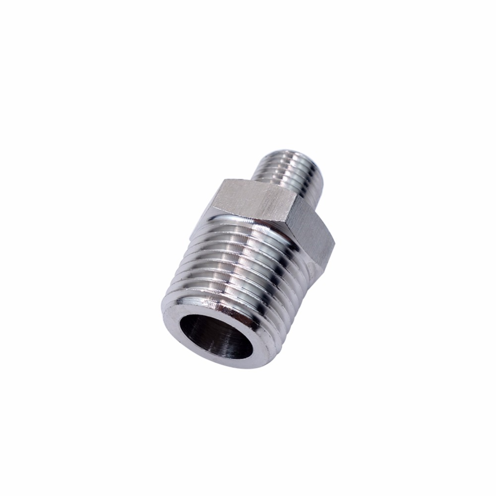 2 PCS Stainless Steel 304 Barstock Pipe Fitting Hex Nipple 3/8