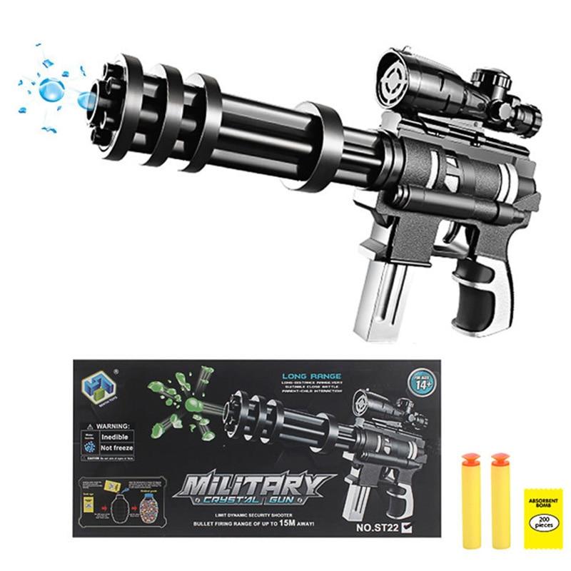 En plein air Fun Sport airsoft armes à air comprimé Gatlin simulation manuel capitaine enfants pistolet à eau garçon sniper jouet pistolet pour enfants