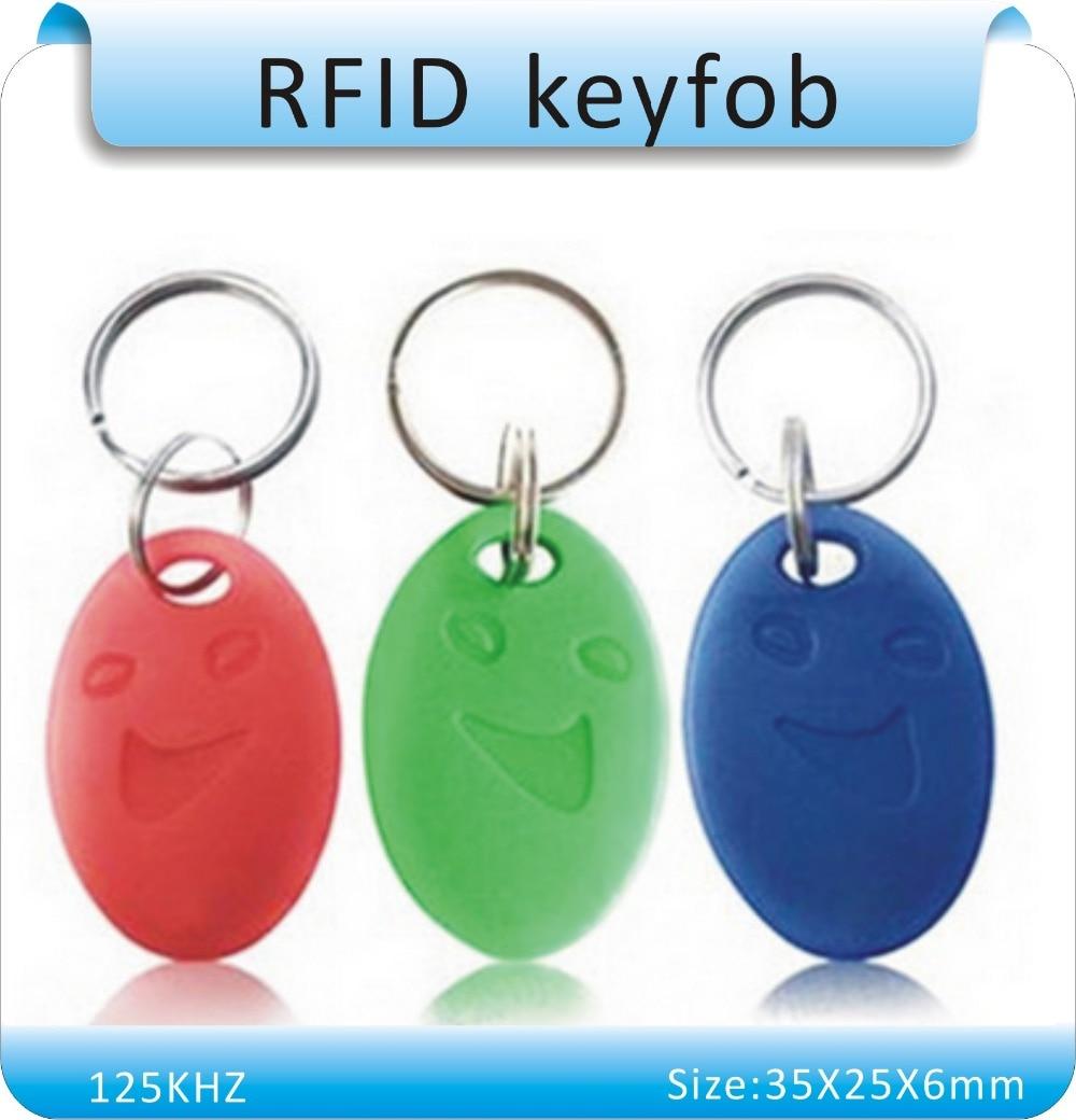 Free shipping 100pcs/lot 5#  125Khz EM4100 RFID key Proximity ID Card Keyfobs,Access Control Card Rfid Tag 1pcs lot access control 125khz usb rfid id em card keyfobs reader 5pcs em4100 keychain