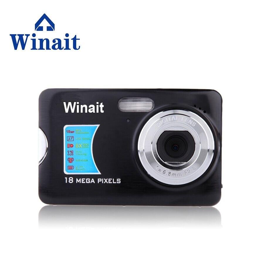 Winait 500FE caméra professionnelle 18mp 2.7 pouces en aluminium + Support en plastique multi-langue Mini caméra Portable HD caméra numérique Camer