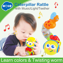 Купить с кэшбэком 2016 New Cute Baby Toys Electric Musical Twisting Worm Insert Early Educational Toys for Kids Children Huile Toys 917 Xmas Gifts