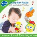 HOLA 917 lindo juguetes musicales de torsión gusano insertar educativos juguetes para niños de cumpleaños de los niños regalos