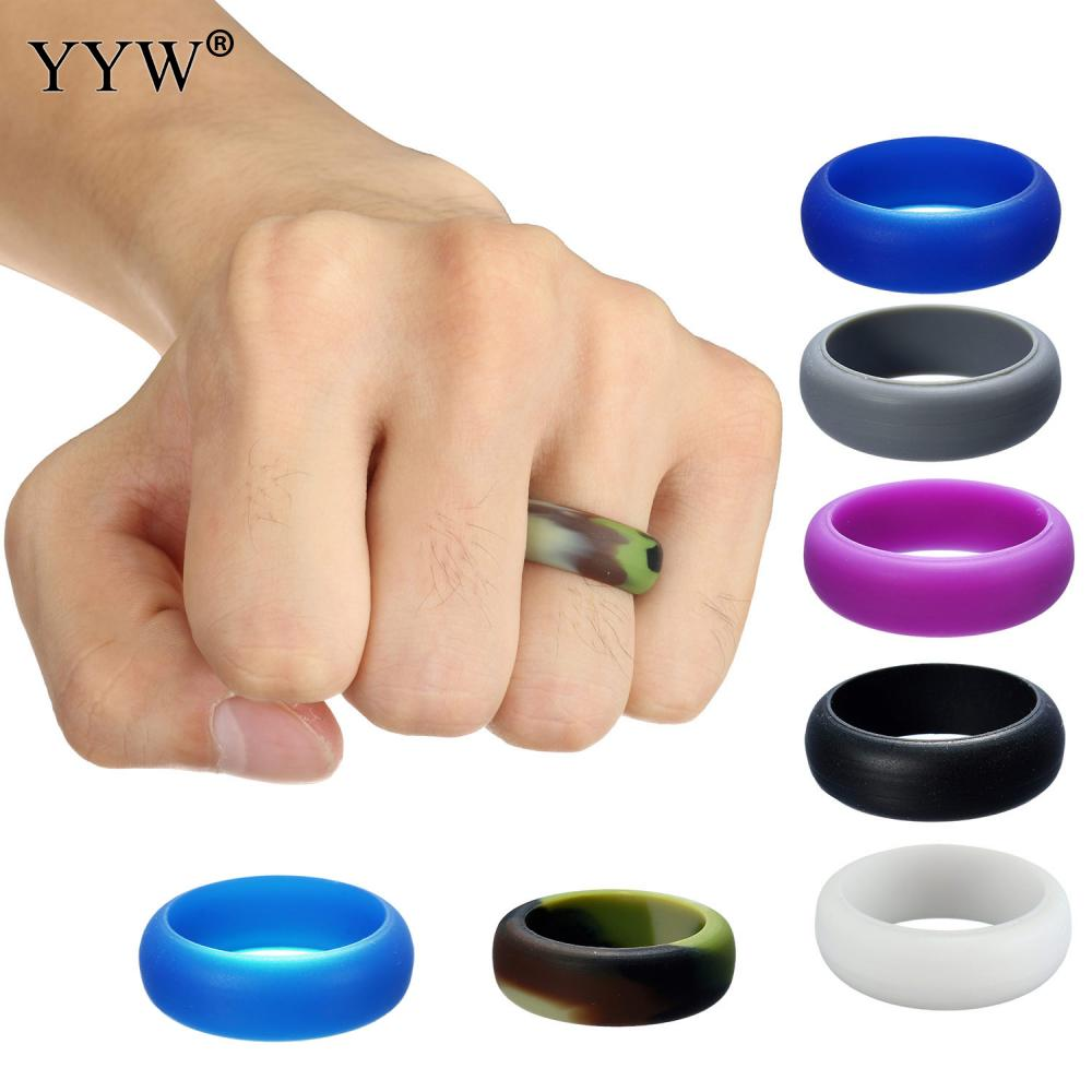 Multicolor Size 612 Hypoallergenic Crossfit Flexible Rubber Band Silicone Band  Wedding Ring Vintage Engagement