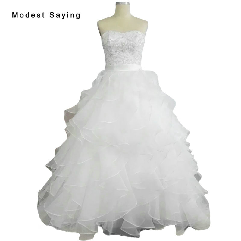 Ruffled Ball Gown Wedding Dress: Aliexpress.com : Buy New Elegant White Ball Gown Lace