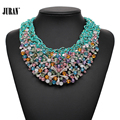 2017 NEW design fashion flower collar pearl bib Necklaces & Pendants statement choker Necklaces torques for women birthday gift