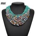2017 nuevo diseño de moda flor de la perla del collar del babero de los collares y colgantes declaración choker torques collares para las mujeres regalo de cumpleaños