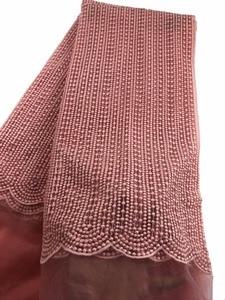 Кружевной кружевной ткани, французский нигерийский сетчатый Тюль с вышивкой и блестками в африканском стиле, модель CP01, 2018
