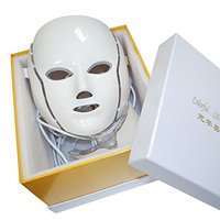 Free Shipping 7 Colors PDT Photon Led LED Facial Neck Mask Smart System Led Light Therapy