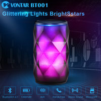 VONTAR BT001 Fashion Wireless Speaker LED Touch Control Colorful Night Light Hands free AUX and Portable Bluetooth Speaker