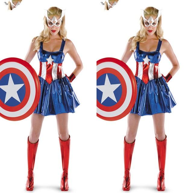 2017 Adult Supergirl Costume Woman Superhero Cosplay Sexy -2452