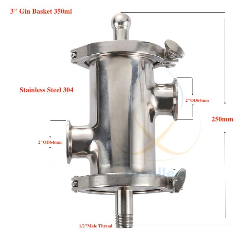 Tri clamp 3 OD91mm Gin Basket Aroma Basket volume 350ml Home distillation Distillex