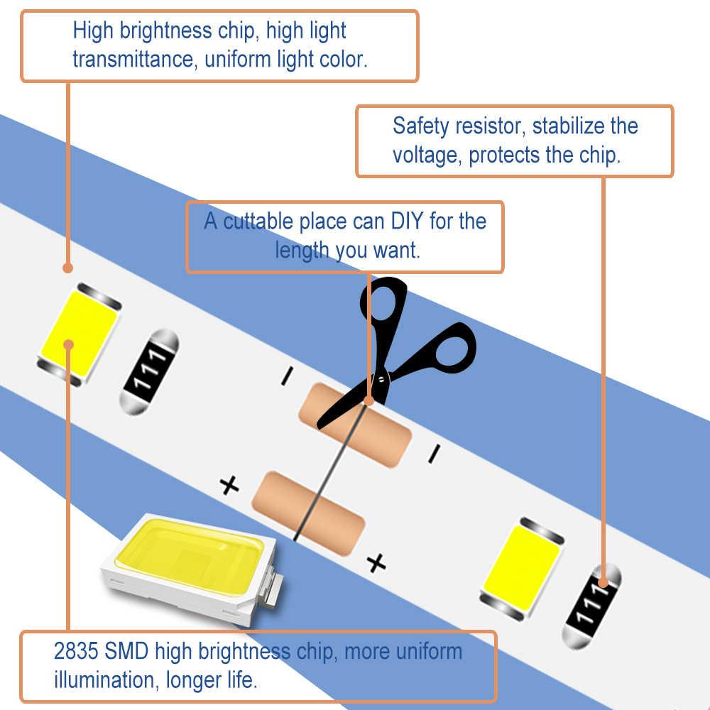 Беспроводной движения сенсор Led настенный светильник для спальни ночника клейкие ленты светодиодные ленты водостойкие ванная комната Wandlamp светодиодные ленты шкаф